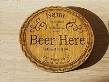 Personalised Dad Coaster Beer Drinks Mat Best Man Birthday Fathers Day Gift