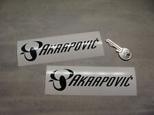 2x stickers Akrapovic 14cm haute temp Auto Moto decals aufkleber Bike A164-070
