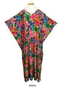 Ladies Viscose printed stretch fabric Kaftan /beach/holiday satin label. 10-32
