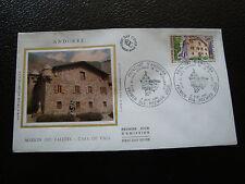 ANDORRE (francais) - enveloppe 1er jour 6/9/1980 (architecture) (cy63) andorra(R