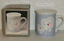 Owl Mug Cup Lidded Covered By Toscany NEW In Box Ceramic Japan