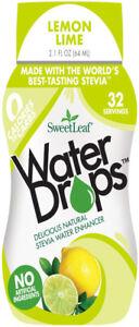 Sweet Drop Water Enhancer by SweetLeaf, 1.5 oz Lemon Lime 2 pack