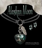 WOLVES HOWL ALASKAN MOON WOLF CHOKER NECKLACE WILD DOG JEWELRY - FREE SHIP #LC'