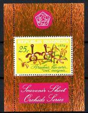 Indonesie 1976  blok 19 orchidee   bloemen   blok  luxe  postfris/mnh