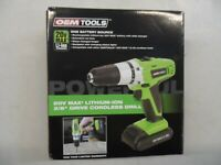 OEM TOOLS 24660 20 Volt Max Lithium Ion 3/8 Inch Drive Cordless Drill Kit