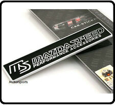 Mazdaspeed Aluminium Badge Emblem Logo Sticker Boot Tailgate Metal  MAZDA Car 67