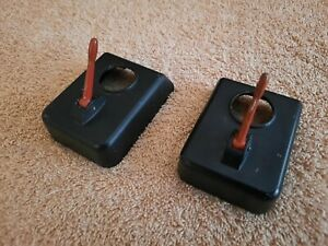 TWO Lionel Pre/Postwar Metal 042 Cover Assemblies No.721-32 With Mounting Screws