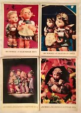 Lot of 4 - Vintage - Hummel Calendars - 1971-74 - 52 Endearing Full Color Photos