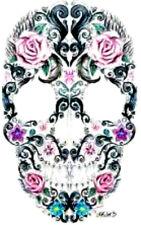 20 water slide nail  DiY sugar skull roses  decals  manicure trending