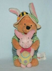 "Disney Store Soft Plush approx. 8"" Winnie the Pooh Bear with Piglet Cuddly Toy"