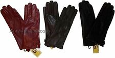 3 New Lovely Woman's Soft Leather Gloves Warm Winter Gloves Les Guant De Cuir bn