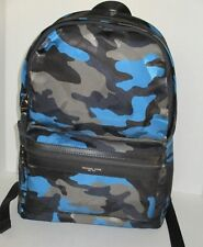 NWT MICHAEL KORS Kent Midnight Backpack in Army Blue Camouflage Nylon