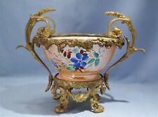 Russian Kuznetsov Dulevo Porcelain Ormolu-Mounted Centerpiece Circa 1890s