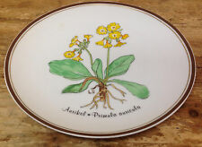Rosenthal Plate Loving Plants Loki Schmidt Classic Rose FE #1 Primula Auricula