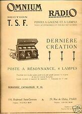 Publicité-T.S.F. : OMNIUM RADIO ;1924