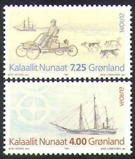 Greenland 1994 Europa/Discoveries/Sailing Ship/Car/Huskies/Dogs 2v set (n38526)
