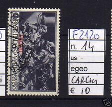 FRANCOBOLLI COLONIE EGEO CALCHI USATI N°14 (F2120)