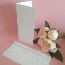 DL Folded DIY Blank Card Invitation Making Kit Envelopes White - 25 Pack