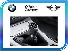 BMW Genuine M Gear Shift perilla + Polaina De Cuero Negro 6-velocidad 3 serie 25118037309