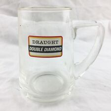 VINTAGE DRAUGHT DOUBLE DIAMOND TANKARD MAN CAVE GLASS