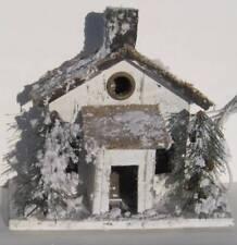 "Snow Covered Light Up White Prim Birdhouse Winter Decor Village Piece 12"" Tall"
