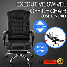 Racing Gaming Chair High Back Executive Reclining Computer Office Desk Footrest