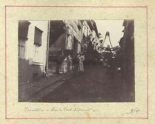 Cormeilles Rue du Pont Audemer & Carriole 2 photos Vintage citrate 1907