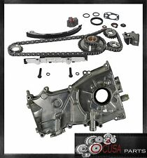 NEW TIMING CHAIN KIT+OIL PUMP for NISSAN ALTIMA 1998 1999 2000 2001 L4 2.4L
