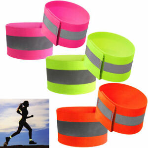 2Pcs Outdoor Sports Reflective Arm Band Belt Strap Night Running Cycling Safety
