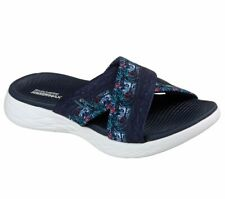 Skechers On The Go 600 Monarch Womens Slides Memory Foam Summer Sandal Flip Flop