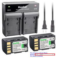 Kastar Battery Rapid Charger for JVC BN-VF815 & JVC GR-DA30 GR-DA30AC GR-DA30US