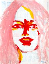 Brigitte Bardot Peinture Original sur Dessin de Paris 1965 Art Neal Turner