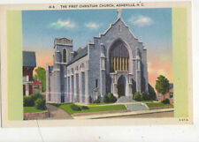 The First Christian Church Asheville NC USA Vintage Postcard US023
