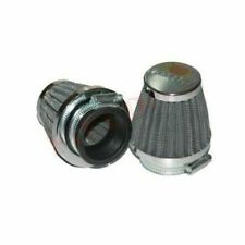 Set Conical Power Air Filters Chrome Back Yamaha RD350 2 Units Clamp on @AU