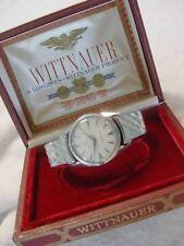 Vintage large antique Art Deco WITTNAUER LONGINES AUTOMATIC mens watch + BOX