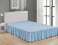 Christmas mega sale Bed Skirt With Pleated 100% Certified quality Light Blue