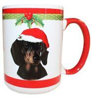Dachshund Black Christmas Coffee Mug 15 oz E&S Pets Dog Puppy Tea Cup Holiday