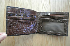 Genuine crocodile leather bifold wallet (35)