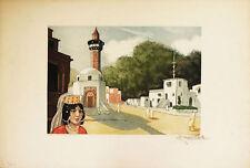 TUNISIA DONNA ARABA - Incisione Originale Charles Naillod Arab Woman Tunisie