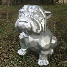 Bulldogge, KUNSTBEMALUNG, Designer Deko Figur Hochglanz-Lack, MODERN