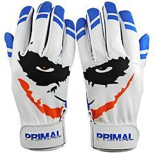 "Primal Baseball Adult Baseball Batting Gloves  Cool Blue ""Smiley"" Size Large"