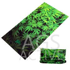 Pot Marijuana FACE MASK Sun Shield Neck Gaiter Headband Bandana Du Rag Skull Cap