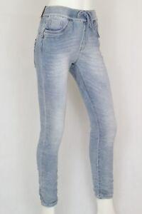 Lexxury Damen Baggy Boyfriend Jeans in Jogginghosen-Style Hell Blau XS-XL