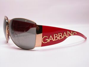 Dolce and Gabbana Designer Bright Red and Gold Sunglasses Made in Italy