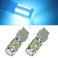 2X Ice Blue3157 P27/7W 5630 SMD 33 LED Tail Bulb Car Stop Brake Reversing Light