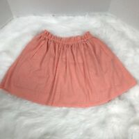 FOREVER 21 Pink Polka Dot Ruffle Top Flowy Lined Mini Skirt Small EUC Romantic