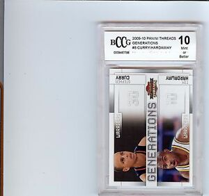2009-10 PANINI THREADS GENERATIONS STEPHEN CURRY WARRIORS RC BCCG 10 NOT BGS 9.5