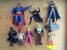 DC Batman Superman Wonder Woman Joker Penguin Batgirl 8 Action Figure Toy Lot