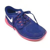 Women's Nike Free 5.0 Running Shoes Sneakers Size 7.5M Blue Pink Athletic F15