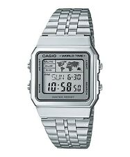 Casio A500wa-7 Vintage Classic Silver World Time Unisex Retro Digital Watch